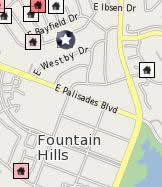 Click for a Map display of all Fountain Hills homes for sale in the AZ MLS